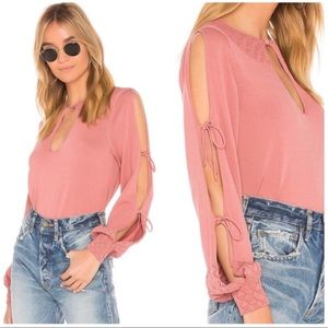 NWT Tularosa Rose Melissa Top Slip Long Sleeve S